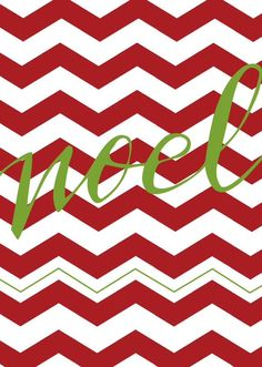 CHRISTMAS RED CHEVRON WITH THE WORD NOEL PRINTABLE