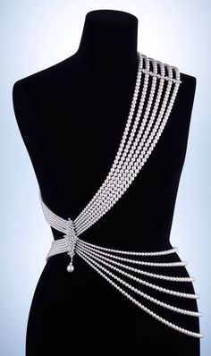 Mikimoto Pearl Streams body adornment crafted from the finest Akoya pearls, with a diamond clasp featuring a single South Sea pearl drop that can also be worn as a brooch (£POA). Jewelry Accessories, Fashion Accessories, Jewelry Design, Fashion Jewelry, Fashion Clothes, Designer Jewelry, Bridal Accessories, Fashion Necklace, Maxi Collar