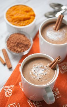 Get your rich and creamy pumpkin hot chocolate recipe! Tastes like hot cocoa and… Get your rich and creamy pumpkin hot chocolate recipe! Tastes like hot cocoa and pumpkin pie had a baby. Only 62 calories! Pumpkin Hot Chocolate Recipe, Healthy Hot Chocolate, Homemade Hot Chocolate, Hot Chocolate Recipes, Chocolate Chocolate, Pumpkin Drinks, Pumpkin Dessert, Pumpkin Recipes, Fall Recipes