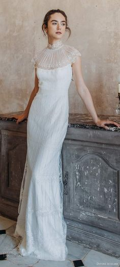 Brides who love boho chic wedding dresses, we guarantee that you'll be grinning from ear to ear as you scroll through this Boho Chic Wedding Dress, Elegant Wedding Gowns, Wedding Dress Trends, Modest Wedding Dresses, Designer Wedding Dresses, Bridal Skirts, Bridal Gowns, Divine Atelier, Gowns Of Elegance
