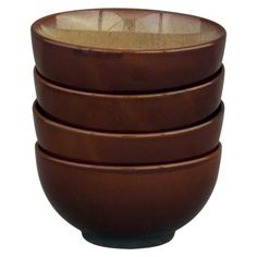 Nova Set of 4 Bowls - Brown.Opens in a new window