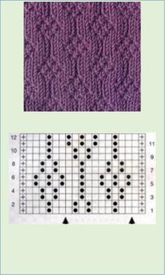 Beanie Knitting Patterns Free, Knitting Stiches, Crochet Poncho Patterns, Knitting Charts, Crochet Chart, Knitting Designs, Knitting Projects, Hand Knitting, Stitch Patterns