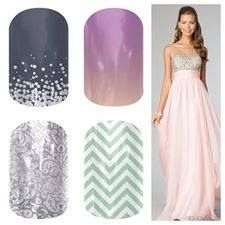 Jamberry Girly Prom Nails! Jamberry Nail Wraps.  Buy 3 Get 1 Free.  Independent Consultant.  http://www.danielleb.jamberrynails.net