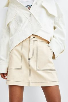 ef6df65b8c63 Image 5 of TOPSTITCHED MINI SKIRT from Zara