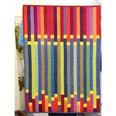"""""""Antibes at Dusk"""" quilt pattern by Ulrike Schwenk. 60 x 96 cms."""