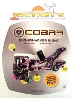 Cobra Bushwhacker 4 Pin Sight With Light Muddy Girl Pink Camo LH/RH C-675PC