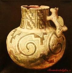 Ancient Anasazi #3483 Mountain Trails, Southwest Art, Jackson Hole, Art Gallery, Vase, Artist, Decor, Art Museum, Decoration