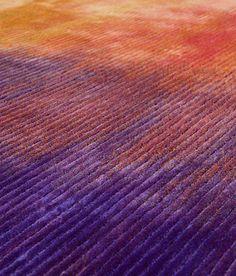 Phenomena I - Chroma - Tapis - Violet - Jaune - Orange - Art Abstrait - APR - Hotel Livry - Janvier 2014 - Fabrication Artisanale - Hong Kong - Paris Carpet Manufacturers, Hallway Carpet Runners, Carpet Stairs, Stair Runners, Modern Carpet, Grey Carpet, Hotel Carpet, Rugs On Carpet