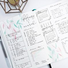 Instagram media by rozmakesplans - My weekly changed a bit and I just adore it! Actually this is a variation of the first weekly spread I tried almost a year ago when I started bullet journaling in a Leuchtturm1917.  #bulletjournal #bulletjournaling #planner #bujo