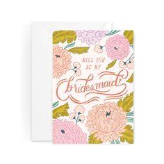 Bridesmaid Blossom Card