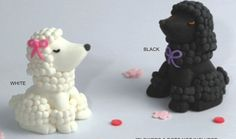 Black and White Fondant Poodles by TopperCentral on Etsy - fondant is so great for Polymer Clay inspiration :D!