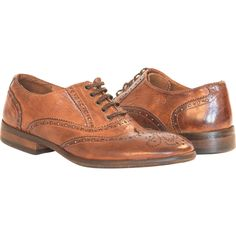 Ashley Dip Dyed Brown Leather Oxford Lace Up Shoes full-size #1