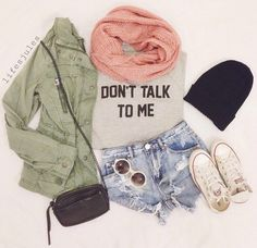 DON'T TALK TO ME # JACKET # SCARF
