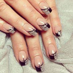 Black & silver tips