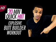 20 Min. Explosive Booty Builder HIIT Workout | 20 Min. Quick HIIT #10 - YouTube