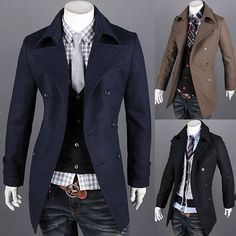 Double Breasted Men Fashion Winter Wool Coat . Shop Now At  http://sneakoutfitters.com/collections/new-in/products/double-breasted-men-fashion-winter-wool-coat-ao-cybb-db-7547-so100
