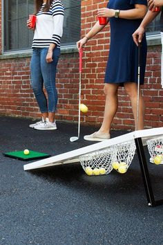 Made for golf lovers and cornhole enthusiasts alike, Chippo combines these 2 games into one, portable game. Learn how to play golf cornhole. Free shipping. Check out these amazing games for you and your family or friends! Backyard Beach, Backyard Games, Giant Yard Games, Backyard Cookout, Garden Games, Backyard Retreat, Backyard Ideas, Golf Chipping Tips, Camping Games