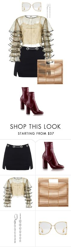 """Untitled #16"" by marcoslunanunoluna ❤ liked on Polyvore featuring HUISHAN ZHANG, Cult Gaia, Blue Nile and Gucci"