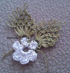 İğne Oyasında Havlu Kenarı Yapımı Resimli Anlatım 2015 | Bilgievim.net Kadına Dair Herşey Needle Lace, Lace Making, Crochet Earrings, Elsa, Brooch, Flowers, Towels, Ornaments, Tejidos