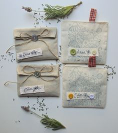 Gift Ideas Highly Fragrant Small Gifts for Her Mothers Day 3 Lavender Sachets Handmade From Vintage Linens Teacher or Hostess Gifts