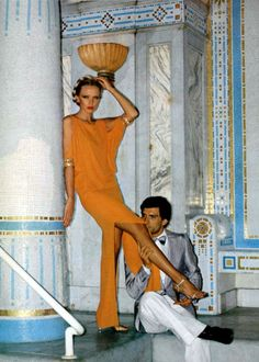 Pierre Cardin dress L'officiel de la mode magazine 1977  LynnSteward.com