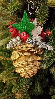 Handmade Pine Cone Christmas Tree Ornament by SeaShellsByCarrie