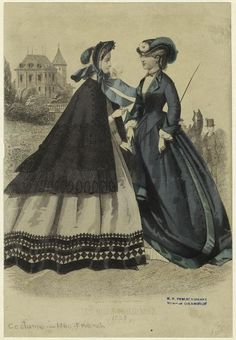 Les Modes Parisiennes. Peterson's Magazine, March 1863. NYPL Digital Gallery