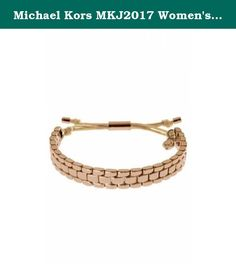 Michael Kors MKJ2017 Women's Gold Tone Stainless Steel Link & Silk Rope Bracelet Jewelry. Michael Kors MKJ2017 Women's Gold Tone Stainless Steel Link & Silk Rope Bracelet Jewelry.
