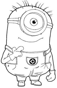 Step step 097 How to Draw Kevin the Minion from Despicable Me with Easy Step by Step Drawing Tutorial