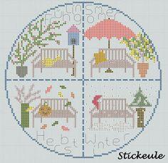 Stickeule - September freebie; four seasons