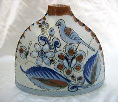 Ken Edwards El Palomar Tonala Mexico Blue Bird Vase Mexican Pottery picclick.com