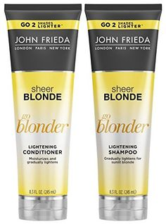John Frieda Sheer Blonde Go Blonder Lightening DUO Set Shampoo  Conditioner 83 Ounce 1 Each *** You can get additional details at the image link.(This is an Amazon affiliate link and I receive a commission for the sales)