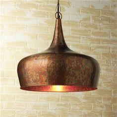 Copper Onion Dome Pendant Light