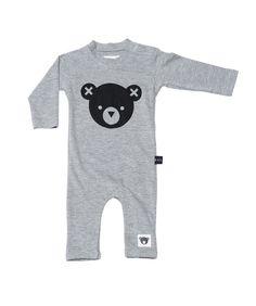 Huxbaby Bear Essentials Long Sleeve Romper - A Little Bit of Cheek