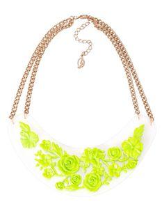 Transparent flower necklace