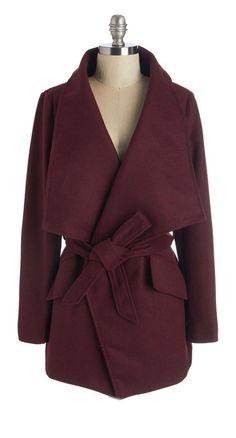 Merlot wrap coat