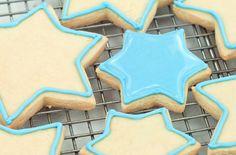 Sugar cookies for Chanukah