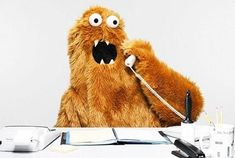 We need an office monster. you know, to answer phones and whatnot. Weird And Wonderful, Puppets, Namaste, Make Me Smile, Creepy, Illustration Art, Character Design, Creatures, Cute
