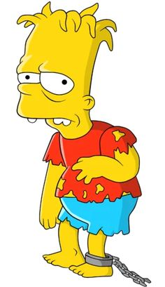 Hugo Simpson II (born April is a non-canon character and Bart's conjoined twin in Treehouse of Horror VII. Shortly after their birth, they were separated by Dr. Simpsons Tattoo, Simpsons Drawings, Simpsons Art, Cartoon Drawings, Cartoon Net, Los Simsons, Simpsons Characters, Fictional Characters, Image Swag