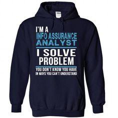 INFO ASSURANCE ANALYST T Shirts, Hoodies. Get it now ==► https://www.sunfrog.com/No-Category/INFO-ASSURANCE-ANALYST-6721-NavyBlue-30654660-Hoodie.html?41382 $39.99