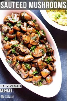 Tasty Vegetarian Recipes, Veg Recipes, World Recipes, Mushroom Recipes, Vegan Recipes Easy, Sauteed Mushrooms, Lunch, Ethnic Recipes, Recipe Ideas