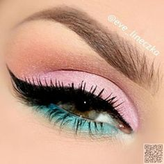 4. Pink and Blue - #Perfect Pastels: 33 #Eyepopping Ideas ... → #Makeup #Trending