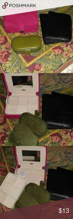 JEWELRY CASES ASSORTED New condition, & waiting to be filled with your beautiful jewelry. Accessories