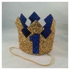 Ready to ship Glittery Birthday Crown , Birthday Boy Crown, cake smash, Prince Birthday Theme, King Birthday, Baby Boy First Birthday, 1st Birthday Parties, Ideas Decoracion Cumpleaños, Prince Party, Twins 1st Birthdays, Mickey Party, Crown Cake