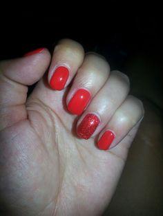 DND gel nail polish #430 Ferrari Red, #402 Fireworks Star