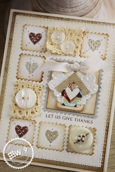 Dawn Woleslagle for Wplus9 featuring Folk Art Florals die, Clear Cut Stackers: Pinking Squares die, Pretty Patches: Apple stamp set and Layered Butterfly die. WPlus9