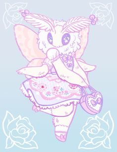 kawaii pastel moth!!! <<I see what you did there
