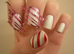 Christmas Nail Designs Candy Cane 2014-2015