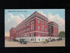 C 1925 Medical Block Rochester Minnesota Post Card