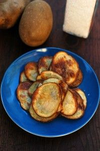 """Baked olive oil potato chips- a fresh alternative to processed """"kid food"""""""